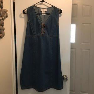 Motherhood Maternity denim dress